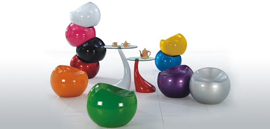 Большой табурет Finn Stone Ball Chair   - фото 2
