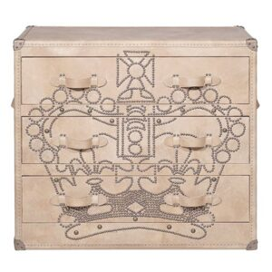 Комод Andrew Martin Howard Crown Studded Parchment Chest of Drawers  designed by Martin Waller