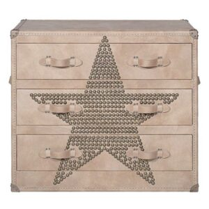 Комод Andrew Martin Howard STAR Studded Parchment Chest of Drawers  designed by Martin Waller
