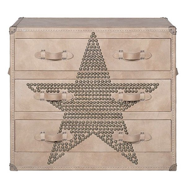Комод Andrew Martin Howard STAR Studded Parchment Chest of Drawers  designed by Martin Waller  - фото 1