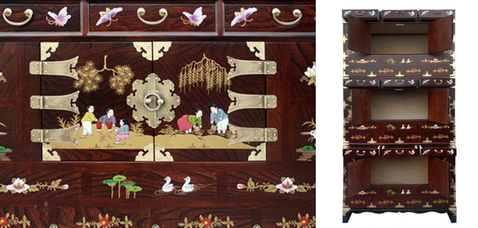 """Китайский кабинетный шкаф Chinese cabinet """"promenade""""   - фото 2"""