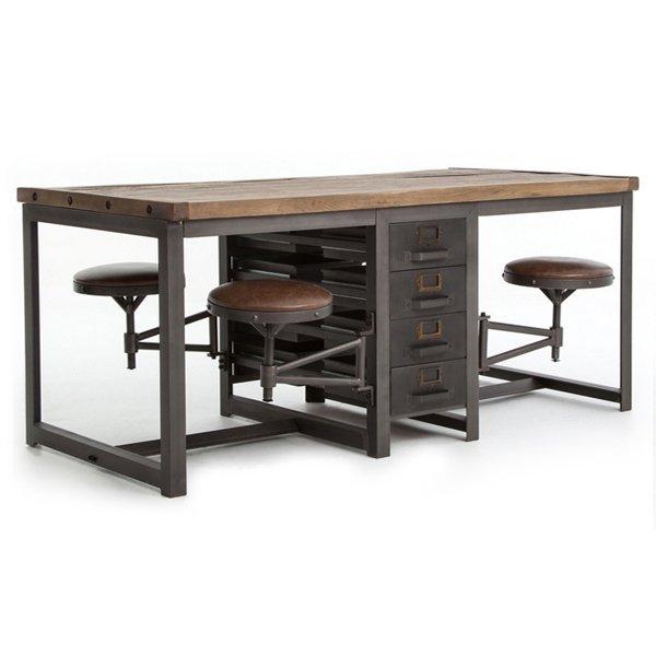 Большой рабочий стол Rupert Work Table Rustic   - фото 1