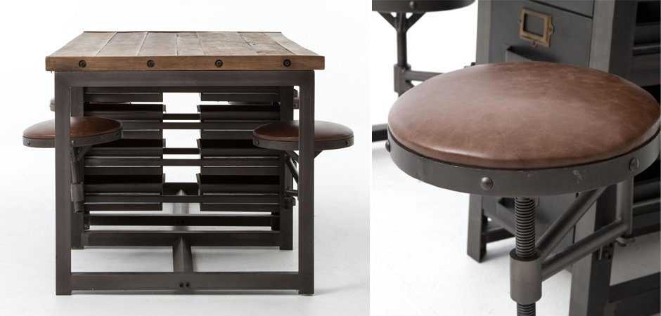 Большой рабочий стол Rupert Work Table Rustic   - фото 4