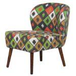 Кресло с зеленым орнаментом KELIM Pattern  - фото 1