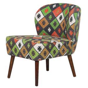 Кресло с зеленым орнаментом KELIM Pattern