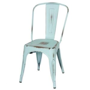 Кухонный стул Tolix Chair Vintage Blue  designed by Xavier Pauchard