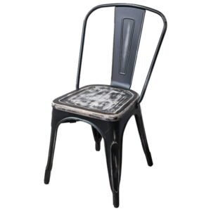 Кухонный стул Tolix Chair Vintage Wood  designed by Xavier Pauchard