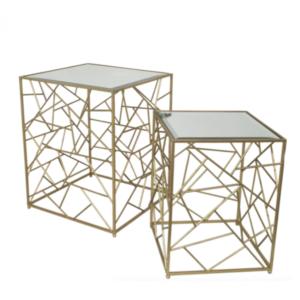 Набор из 2-х дизайнерских столов с зеркальной поверхностью Misteria