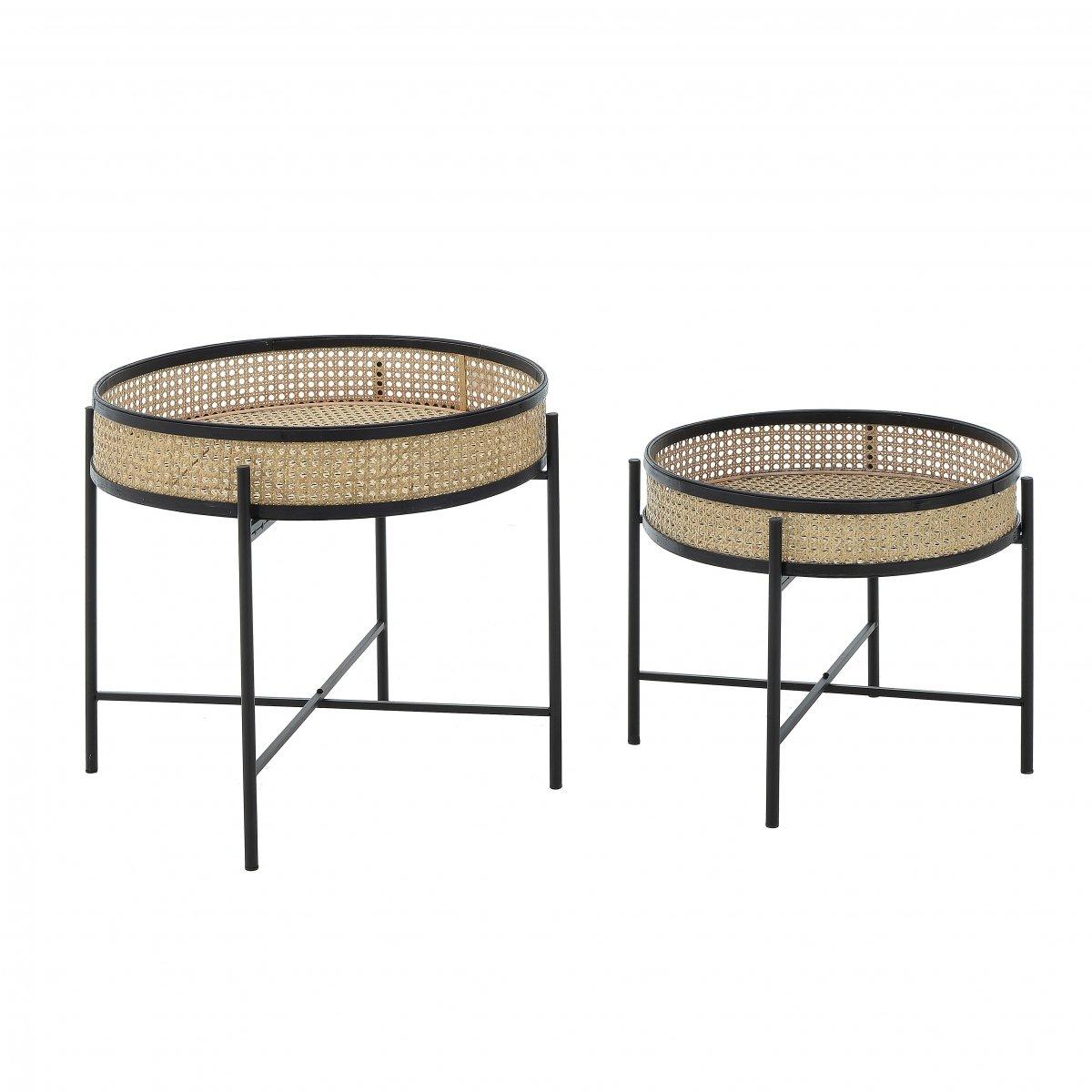 Набор из 2-х приставных столиков ротанг  - фото 1