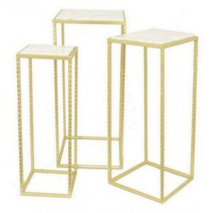Набор из 3-х столов с мраморной поверхностью Marble Square