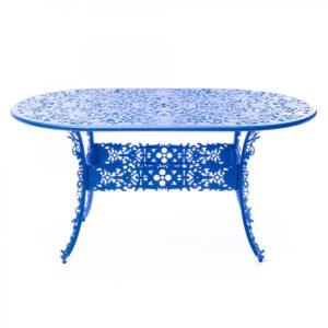 Обеденный стол Industry Collection ALUMINIUM OVAL TABLE – SKY BLUE