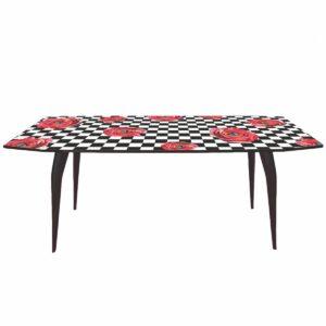 Обеденный стол Seletti Table Roses on check