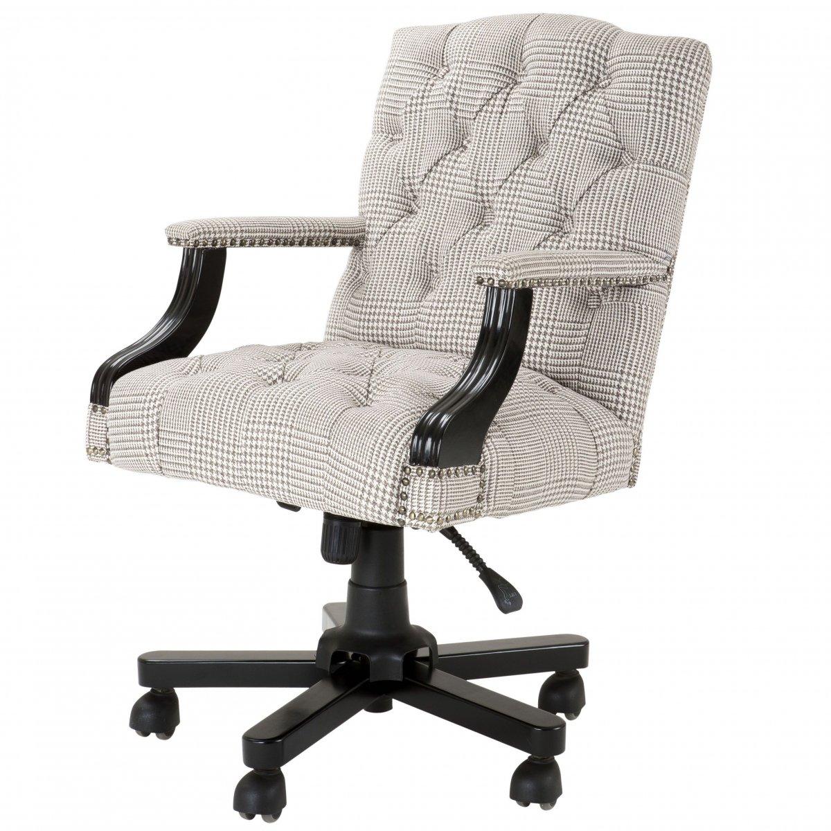 Офисное кресло Eichholtz Desk Chair Burchell brown & white  - фото 1