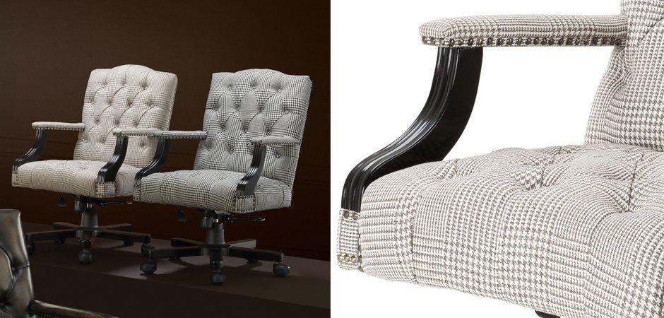 Офисное кресло Eichholtz Desk Chair Burchell brown & white  - фото 2