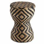 Плетеный приставной столик африканский орнамент  - фото 1