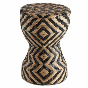 Плетеный приставной столик африканский орнамент