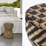 Плетеный приставной столик африканский орнамент  - фото 2