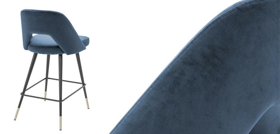 Полубарный стул Eichholtz Counter Bar Stool Avorio Blue  - фото 3