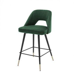 Полубарный стул Eichholtz Counter Bar Stool Avorio Green