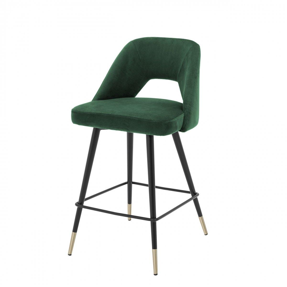 Полубарный стул Eichholtz Counter Bar Stool Avorio Green  - фото 1