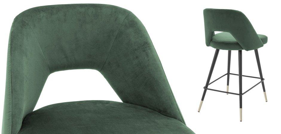 Полубарный стул Eichholtz Counter Bar Stool Avorio Green  - фото 3