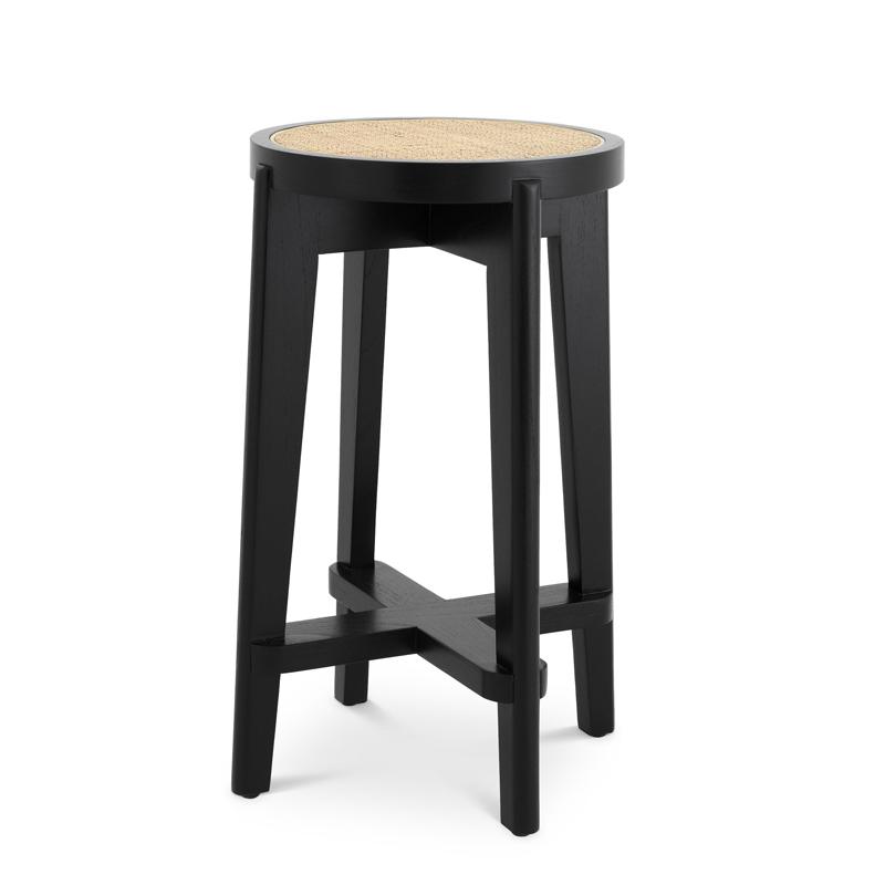 Полубарный стул Eichholtz Counter Stool Dareau black  - фото 1