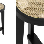 Полубарный стул Eichholtz Counter Stool Dareau black  - фото 2