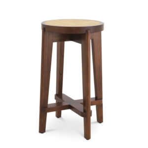 Полубарный стул Eichholtz Counter Stool Dareau brown