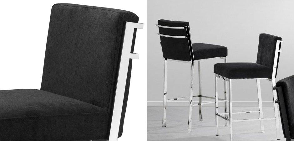 Полубарный стул Eichholtz Counter Stool Scott Steel  - фото 3