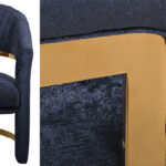 Полукресло Valbonne Chair blue velour  - фото 2