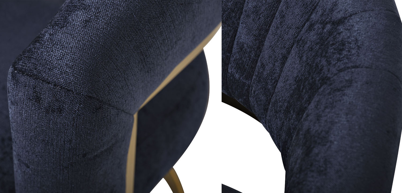 Полукресло Valbonne Chair blue velour  - фото 3