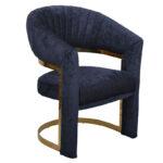 Полукресло Valbonne Chair blue velour  - фото 1