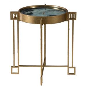 Приставной стол Anthony с циферблатом на столешнице