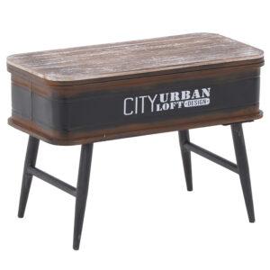 Приставной стол City Urban Loft Design Table black