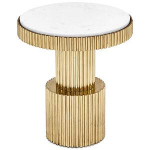 Приставной стол Brass Column Side Table