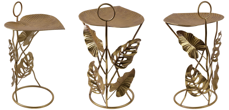 Приставной стол Monstera Leaves Side Table  - фото 2