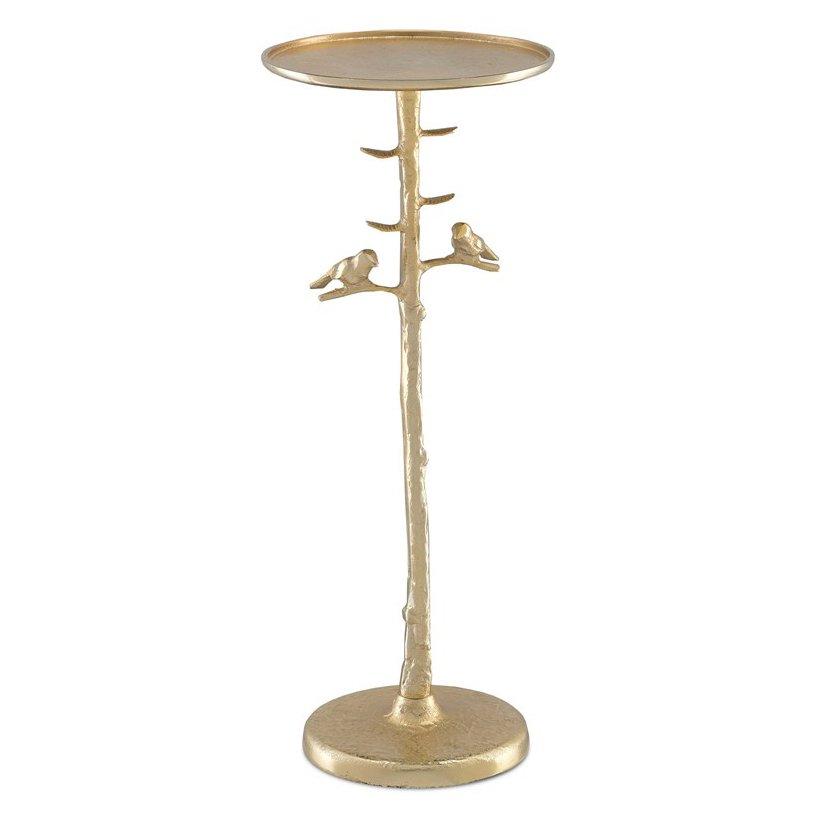 Приставной стол Piaf Gold Drinks Table  - фото 1