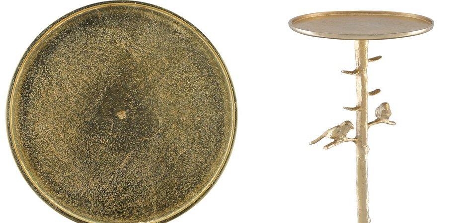 Приставной стол Piaf Gold Drinks Table  - фото 2