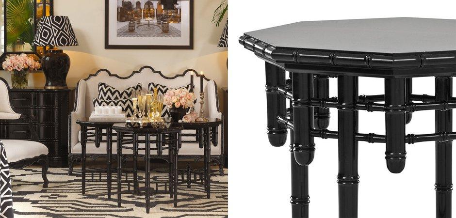 Приставной стол Eichholtz Side Table Octagonal  - фото 2