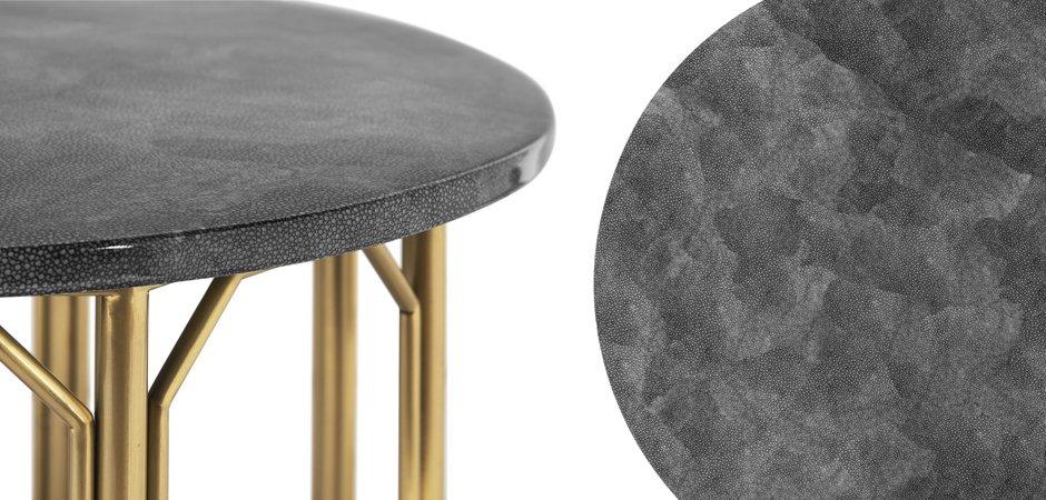 Приставной стол Stingray Skin Round Table   - фото 2