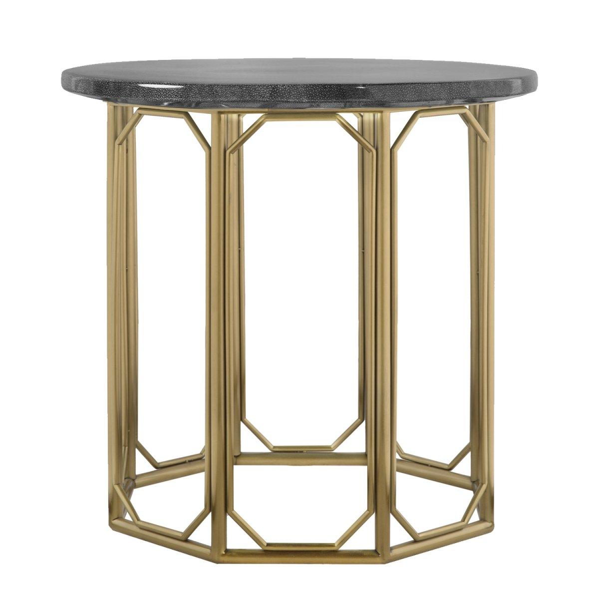 Приставной стол Stingray Skin Round Table   - фото 1