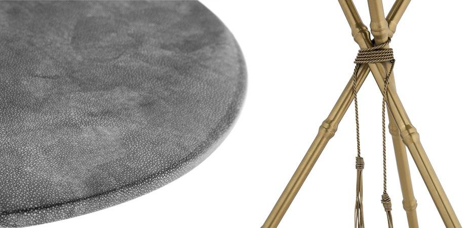 Приставной стол Stingray Skin Triangles   - фото 2