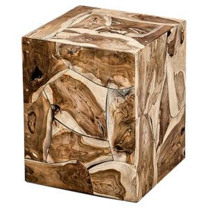 Приставной стол Wooden Cube Side Table