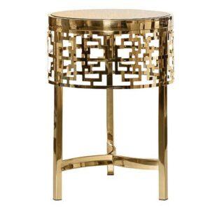 Приставной стол Yen Geometry Side Table pink gold 50