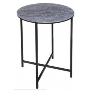 Приставной стол Zermatt Side Table round gray
