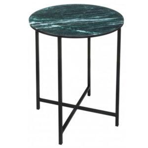 Приставной стол Zermatt Side Table round malachite