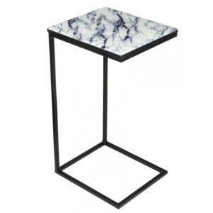 Приставной стол Zermatt Side Table white marble