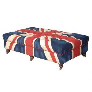 Пуф Poof Union Jack velvet