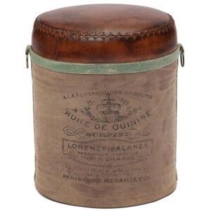 Пуф Vintage Buffalo Leather Pouf