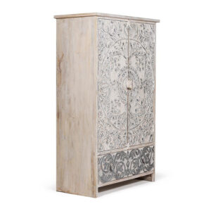 Шкаф Indian antique white Cupboard